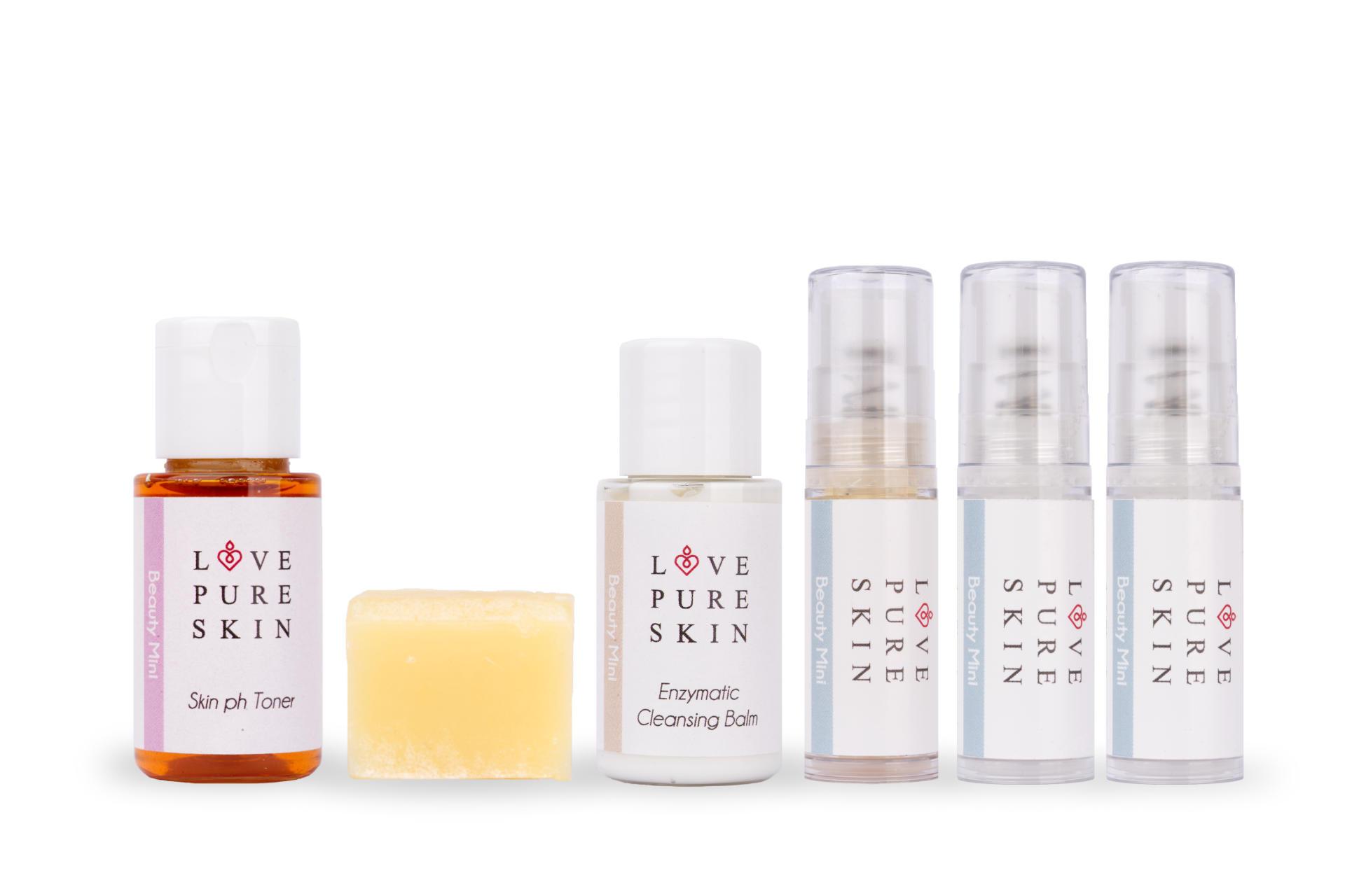 LOVE PURE SKIN Beauty Mini-Set 3 für trockene unreine Haut